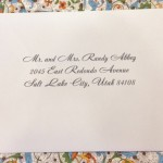 wedding calligraphy for wedding envelopes