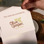 Calligraphy for card used in Olive Garden Commercial