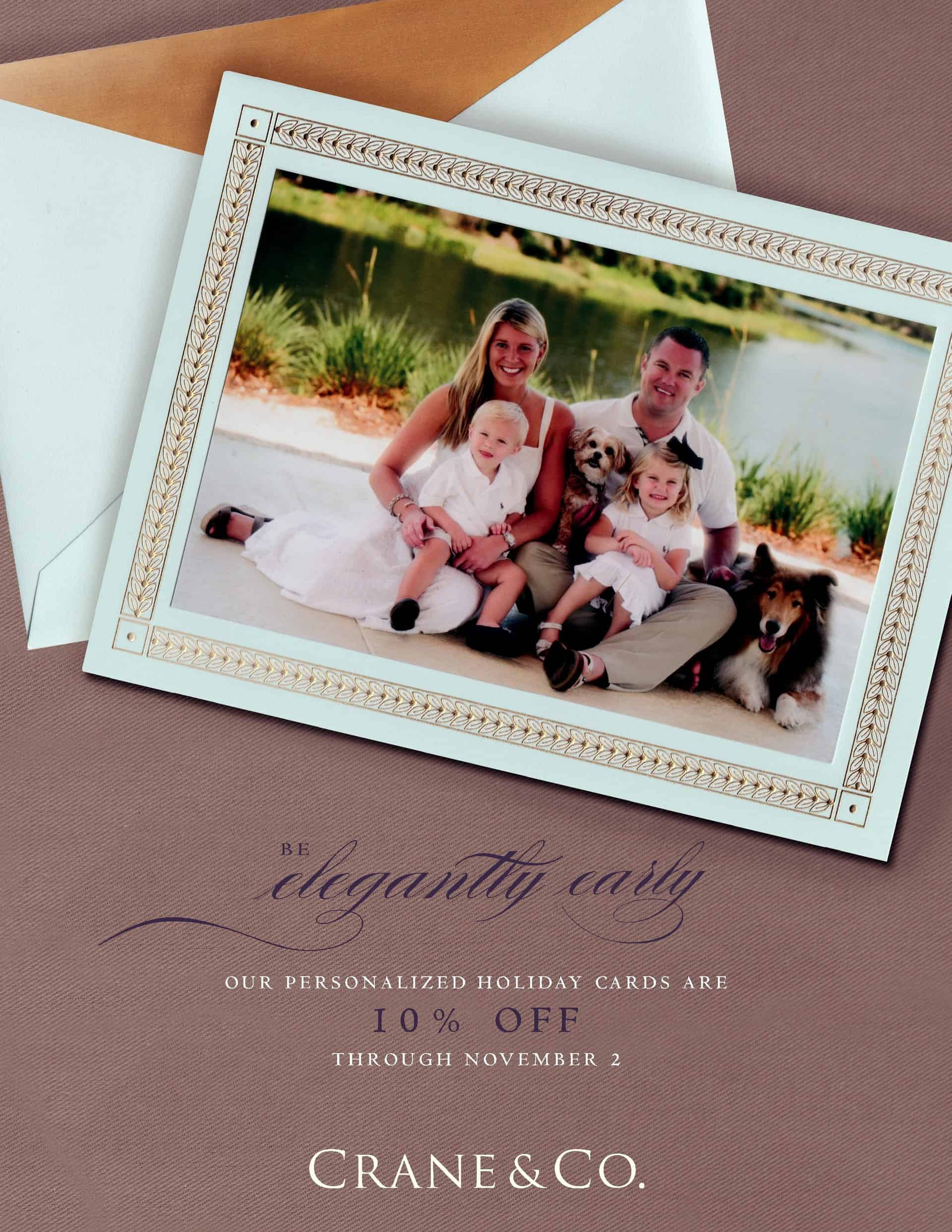 Crane & Co. personalized holiday card promotion