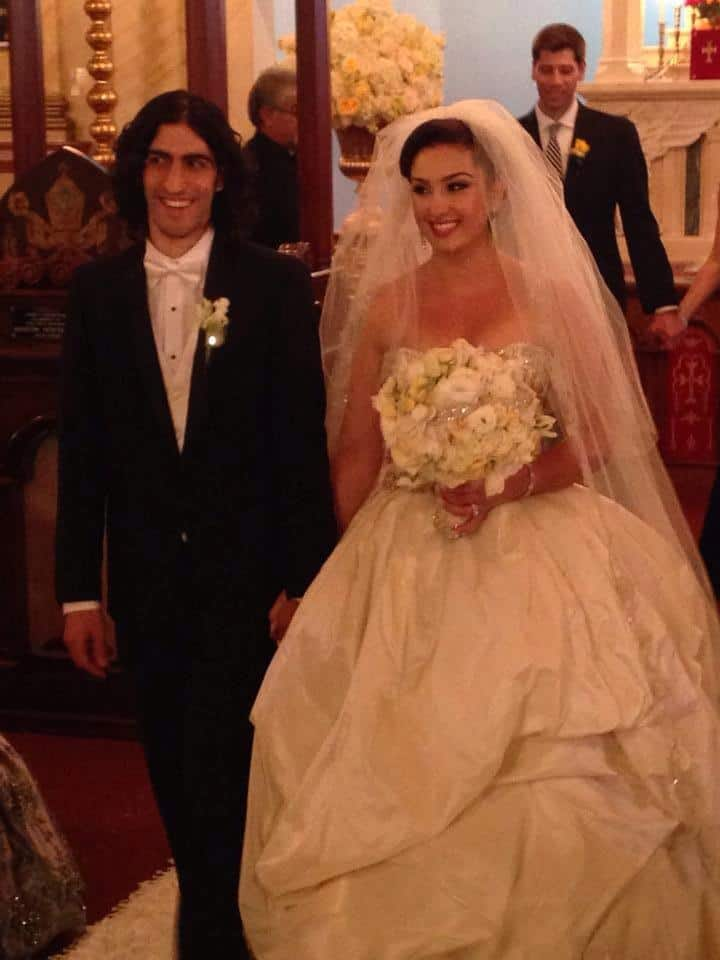 Armenian bride and groom