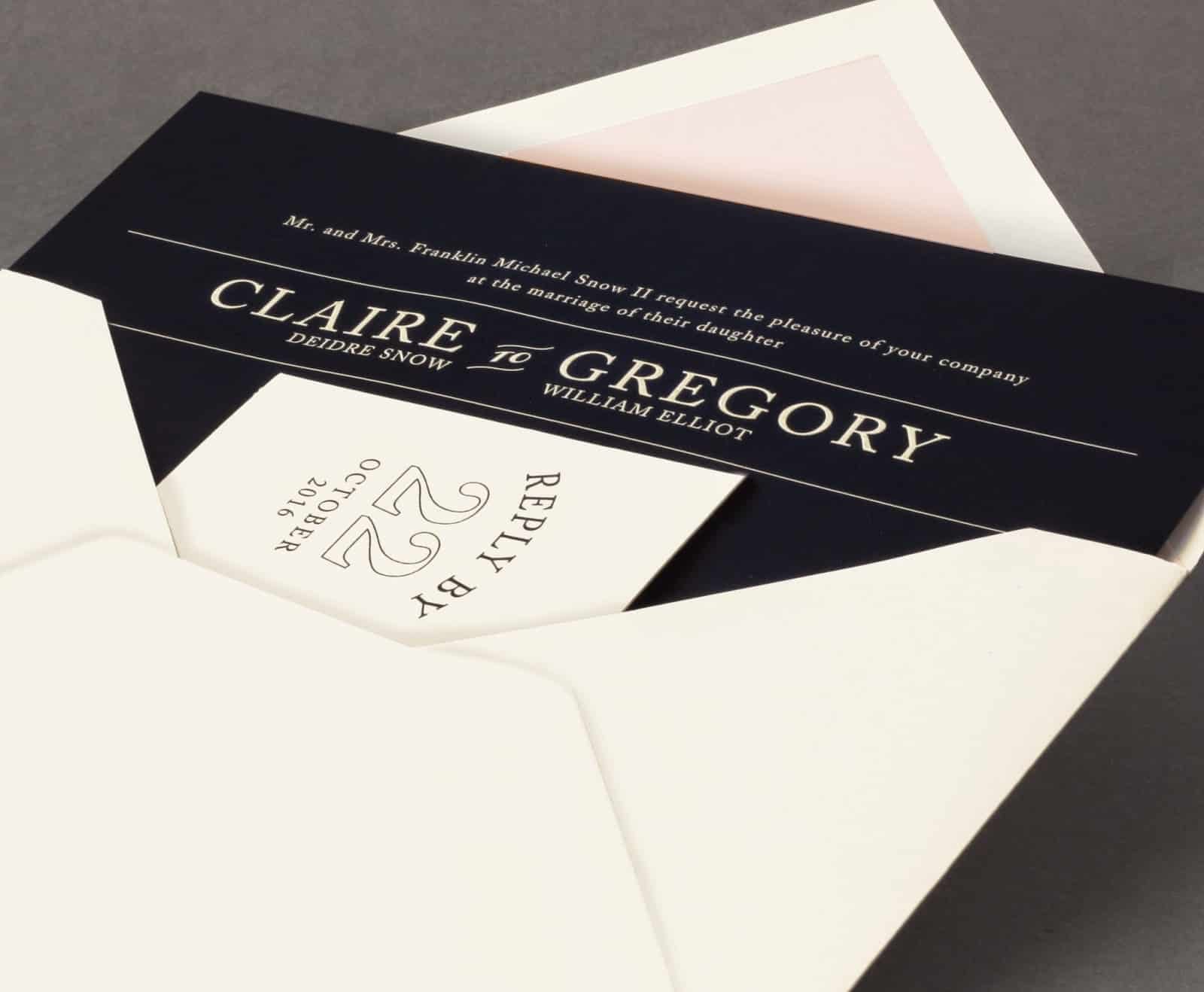 Vera Wang Black and White Letterpress Weddings volume two
