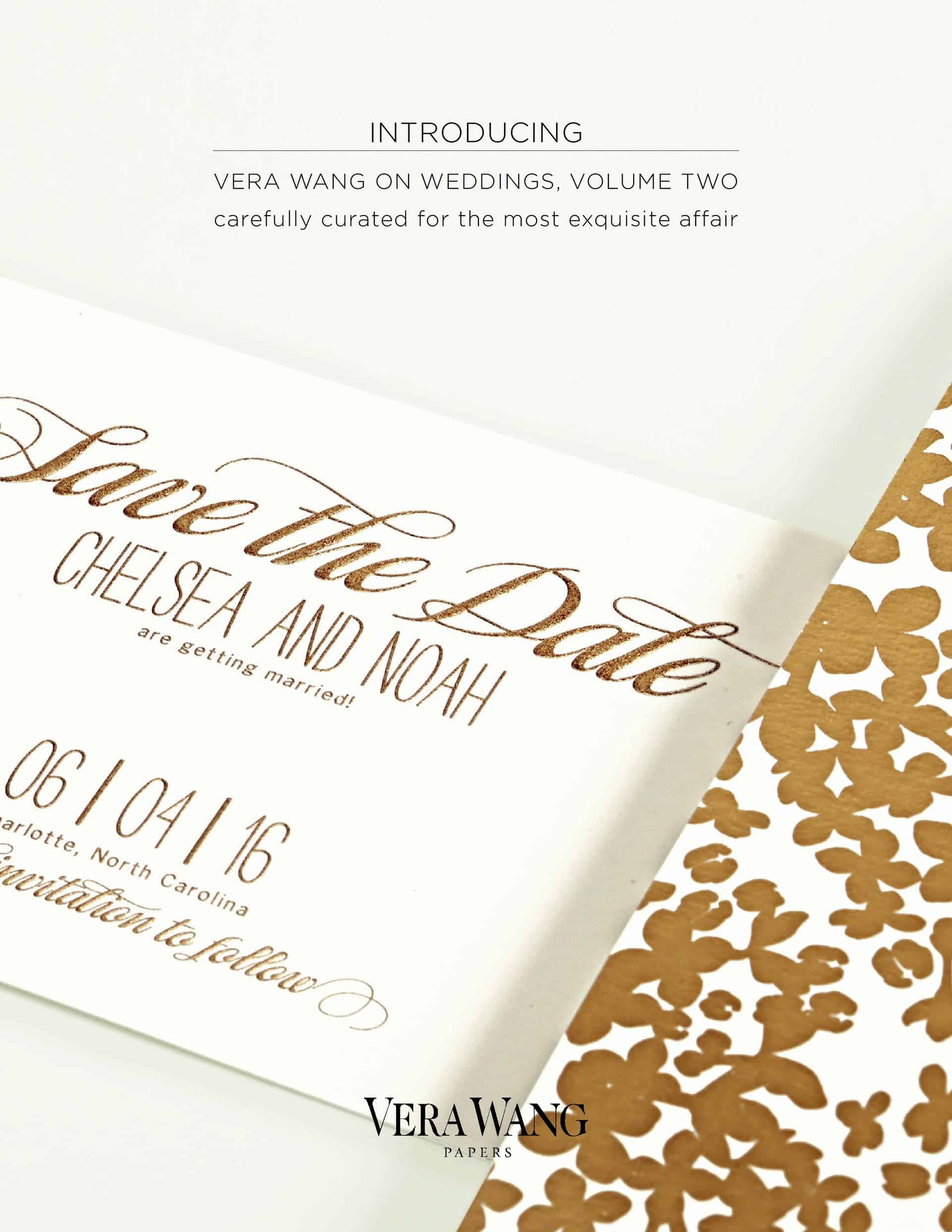 Vera Wang Papers on Weddings Volume Two Gold Confetti