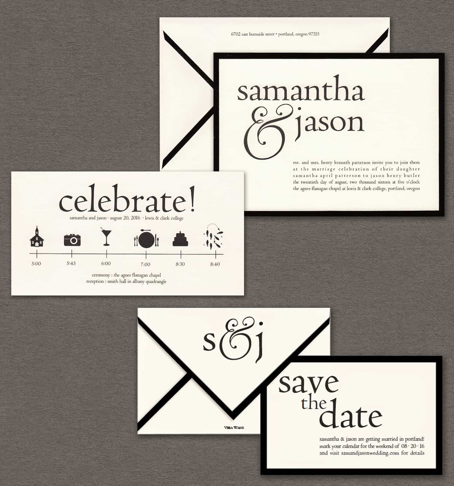 Vera Wang Papers on Weddings Volume two Save the Dates black and white