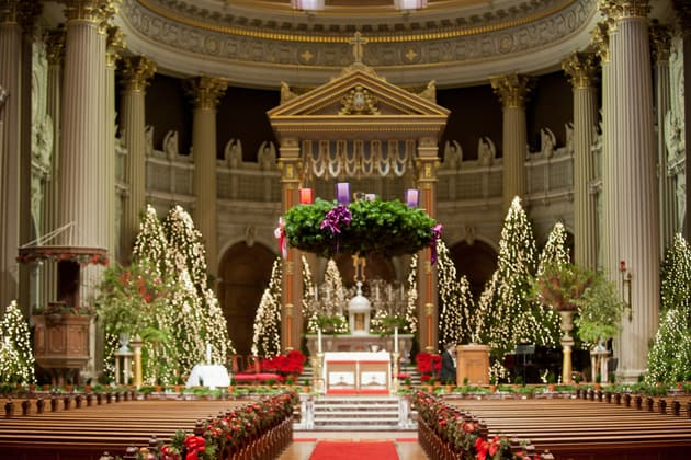 06Glamorous-Winter-Wedding-San-Francisco-Design-Center-Tia-And-Claire-Studio-church-Christmas-decor