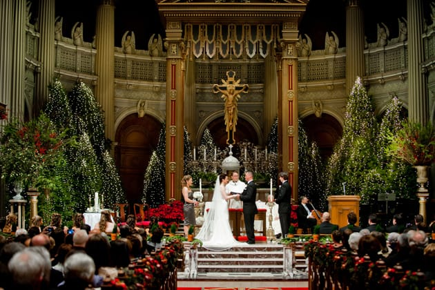 08Glamorous-Winter-Wedding-San-Francisco-Design-Center-Tia-And-Claire-Studio-ceremony-church