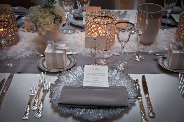 15Glamorous-Winter-Wedding-San-Francisco-Design-Center-Tia-And-Claire-Studio-silver-place-setting