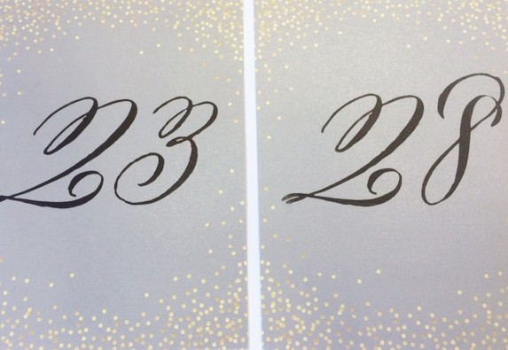 CALLIGRAPHY-TABLE-NUMBER-CARD
