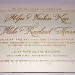 gold foil stamped wedding invitations