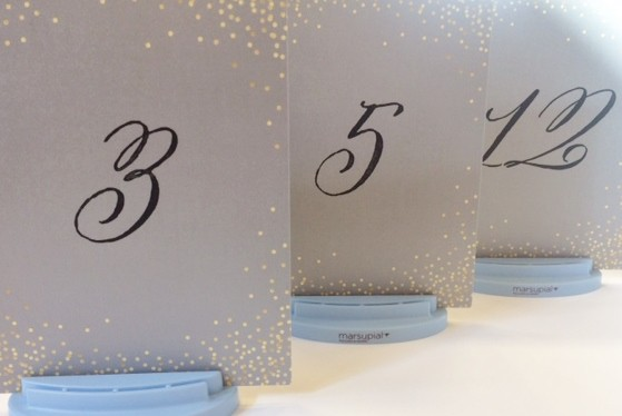 Table Number Card printed with calligraphy