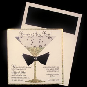 Champagene Glass Holiday Party Invitation