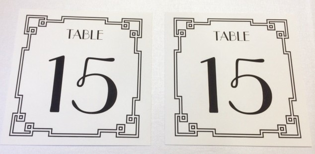 Calligraphy for wedding table number card
