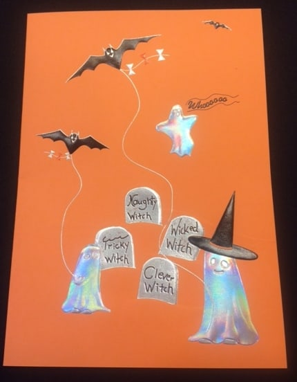 ghosts-and-bats-halloween-greeting-card-foil-stamped