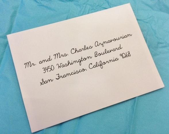 Digital Calligraphy for Elegant Envelope Addressing