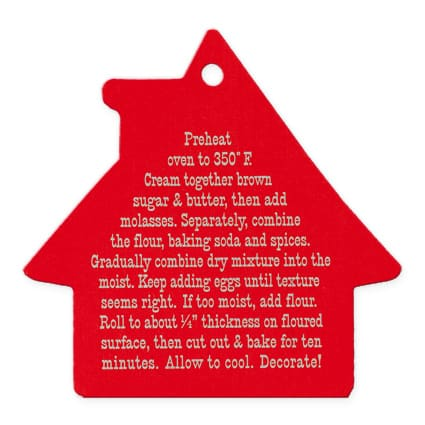 Gingerbread Cookie Recipe Card