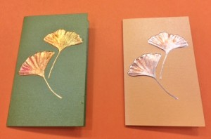 Ginkgo greeting card from Paula Skene