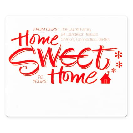 Home Sweet Home Cherry Ink Address Label