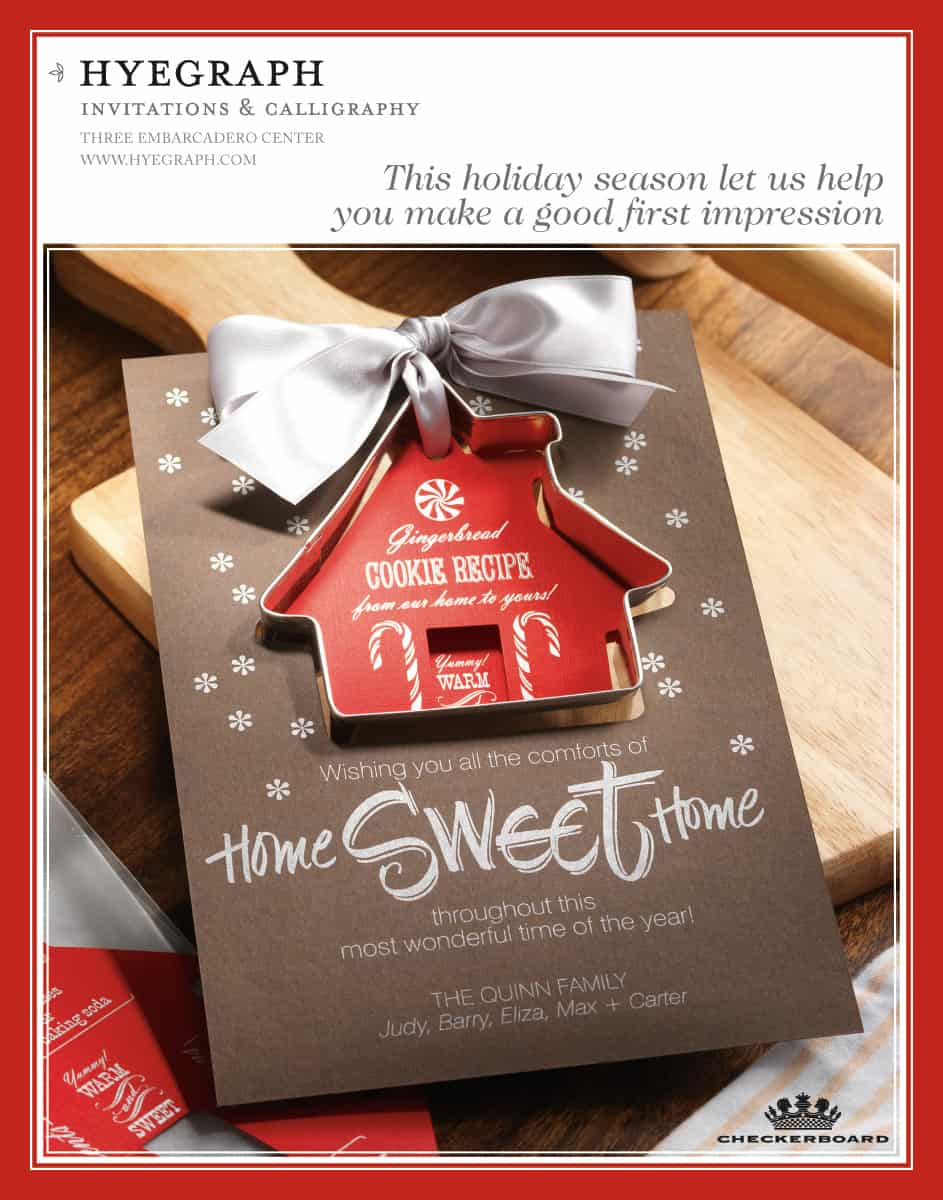 home sweet home holiday card promotion from checkerboard