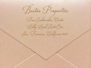 digital calligraphy for envelopes
