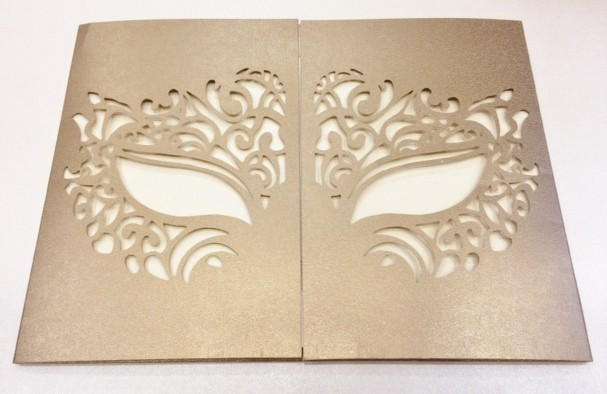 Masquerade Mask Invitation For Boston Properties Venetian Ball At Sf City Hall
