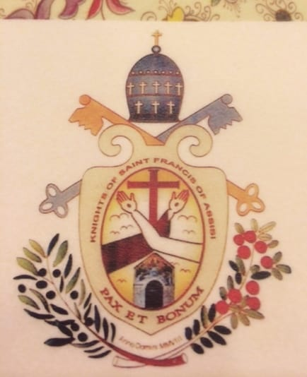 emblem pax et bonum for the Knights of Saint Francis of Assisi