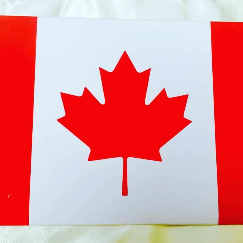 Canadian Passport Passeport Invitation ~ Canadian Flag Envelope ...