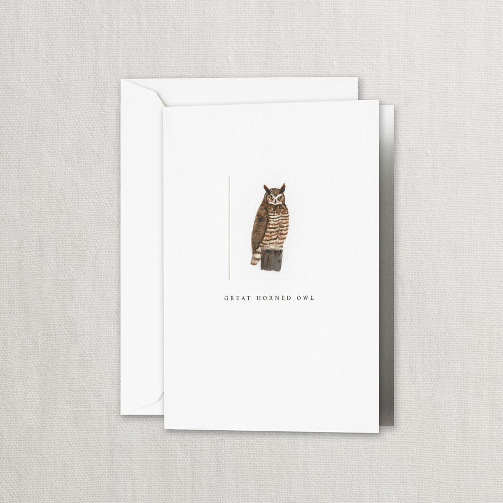 Great Horned Owl Note Card $19.00 per box