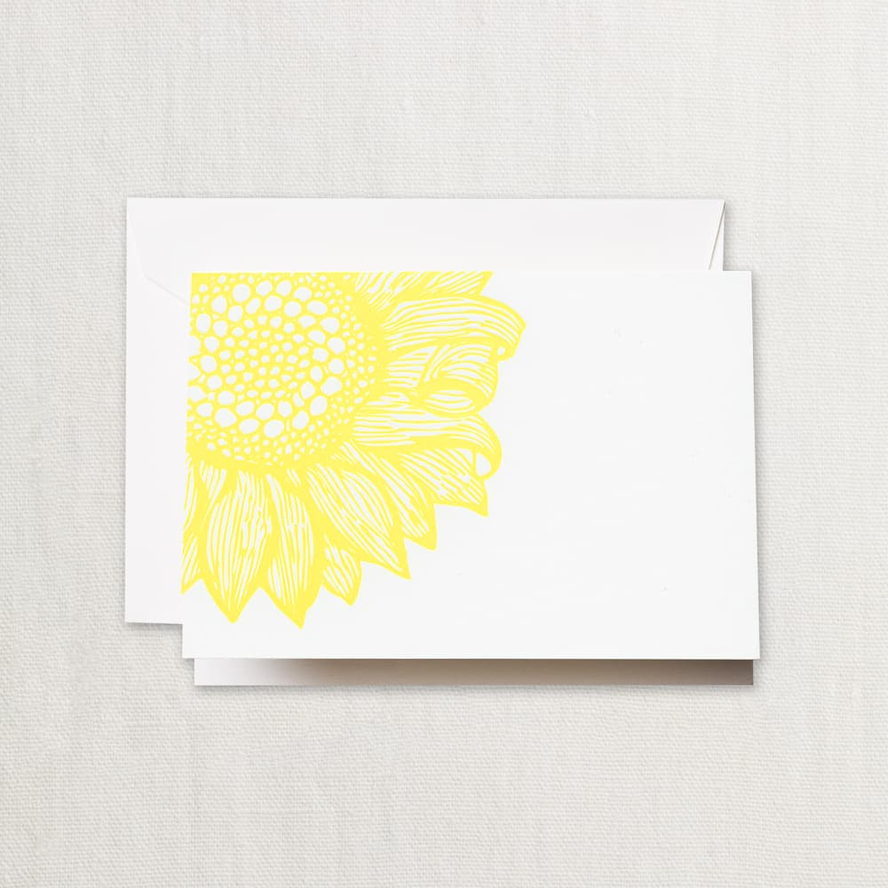 letterpress_sunflower_note_crane_and_co