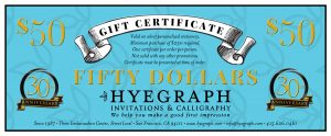Gift Certificate for Stationery