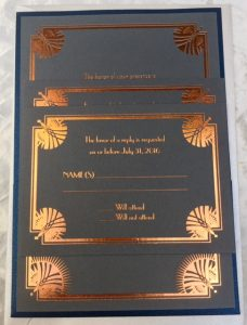 back pocket wedding invitation