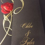 Rose wedding invitation card from Disney
