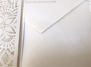 Laser Cut Invitation Envelope Addressing