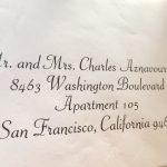 Calligraphy for Envelope Addressing