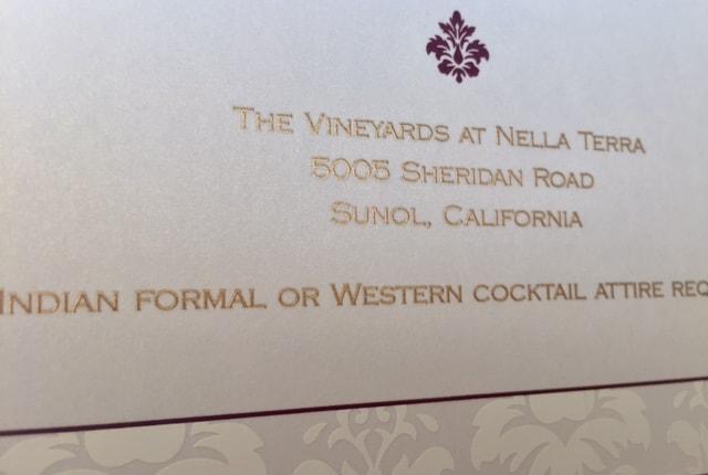 Wedding Invitation Wording India: Vikas & Adriana's San Francisco Indian Wedding Invitations