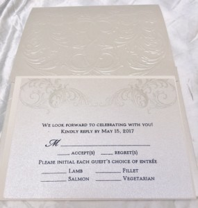 wedding rsvp card from Hyegraph Invitations