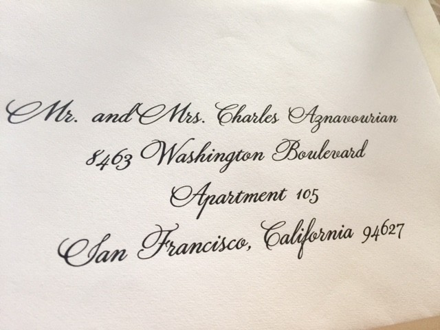 Font Used For Wedding Invitations: Calligraphy For Envelope Addressing