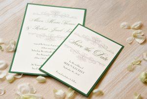 Vintage Wedding Invitations & Save the Dates
