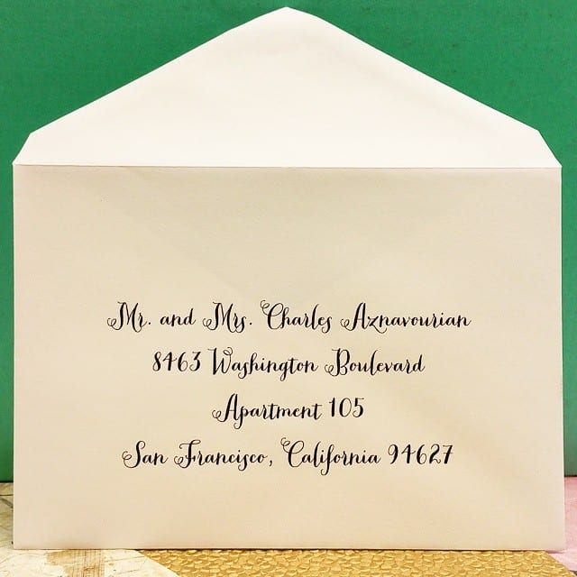 Wedding Invitation Envelope Font: Digital Calligraphy For Weddings, Mitzvahs, Events, Galas
