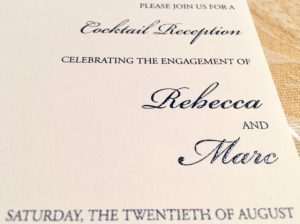 Rebecca & Marc's Engagment Card