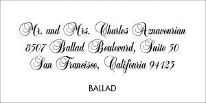 Ballad Font Style