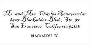 Blackladder Font Style