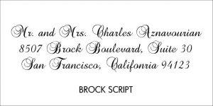 Brock Script Font Style