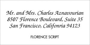 Florence Font Style