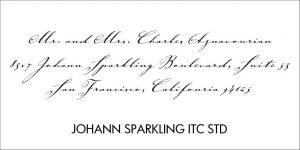 Johann Sparkling Font Style