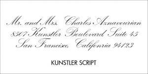 Kunstler Font Style