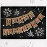 Carlson Craft Holiday Card - Burlap Banner