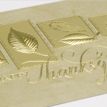 Carlson Craft Holiday Card - Gold Thanksgiving