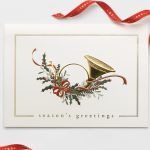 Carlson Craft Holiday Card - French Horn