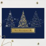 Carlson Craft Holiday Card - Christmas Trees