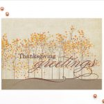 Carlson Craft Holiday Card - Thanksgiving Greetings