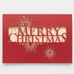 Carlson Craft Holiday Card - Lasercut Merry Christmas